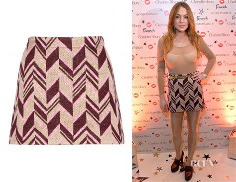 Prada Miu Miu Lindsay Lohan For Miu Miu Ad Caign Pictures by Lindsay Lohan S Miu Miu Wool Blend Skirt Carpet