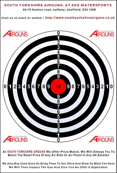 printable targets airguns our free targets