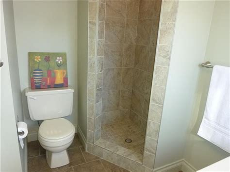 small standing shower tiled stand up shower bathroom stand up showers shower makeover and house