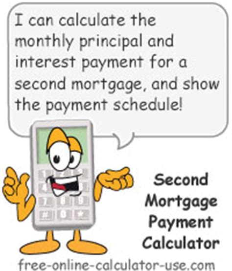 second house mortgage calculator second mortgage payment calculator with amortization schedule