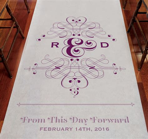 Wedding Aisle Runner Monogram by Monogram Aisle Runner Personalized Aisle Runner