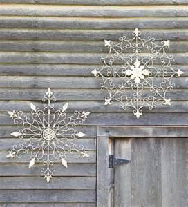 iron snowflake decorations contemporary seasonal