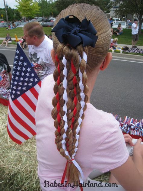 cute rodeo hairstyles vertical american flag hairstyle 4th of july babes in