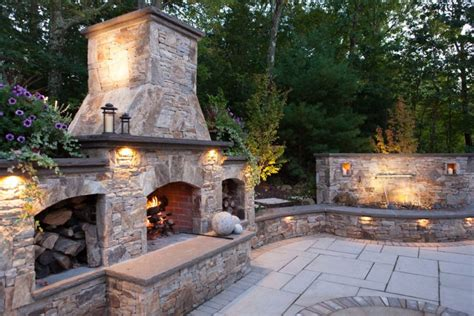 Outdoor Stacked Fireplace With Hearth Fireplaces Stone Veneer Fireplace Kit Stone Veneer Outdoor Fireplace