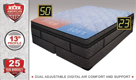 luxury support dual adjustable air bed size right futons waterbeds