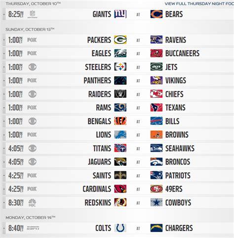 printable nfl schedule week 18 2013 nfl regular season schedule released