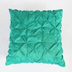 aqua blue ruched sham 26 inch pintucked pillow