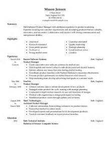 best product manager resume exle livecareer