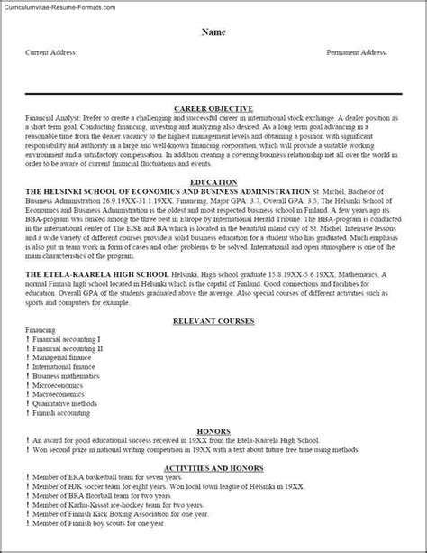 Master Resume Template by Master Resume Template Free Sles Exles Format