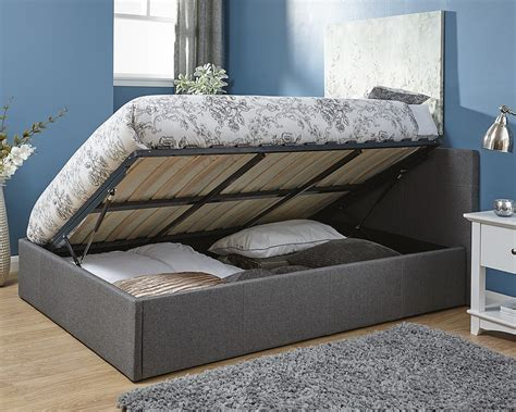 4 ottoman bed 4 small double ottoman side lift fabric bed frame grey