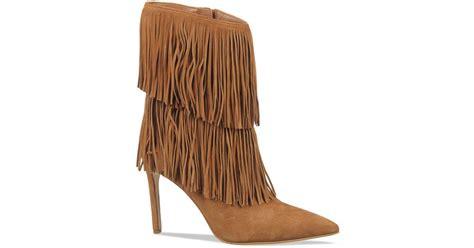 high heel fringe boots sam edelman belinda fringe high heel boots in brown