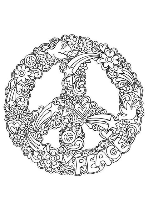 free mandala coloring pages what s your sign simple and attractive free printable peace sign coloring