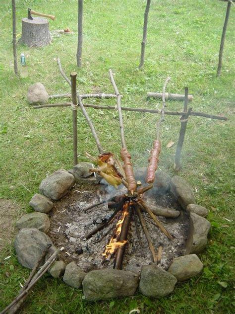pit spit firepit cooking siteduck