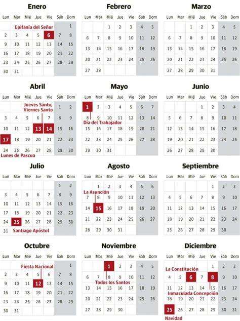 Calendario 2017 Con Festivos Colombia Pdf Calendario De Festivos Propuesto Para 2017 Diariovasco
