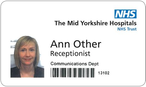 nhs identity guidelines nhs staff identification badge