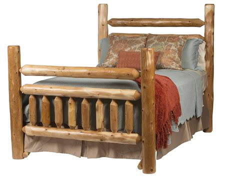 rustic bed rustic lodge bed