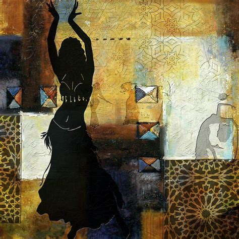 abstract belly dancer  painting  corporate art task force