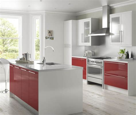 gloss kitchen designs high gloss red and white kitchen ideas pinterest