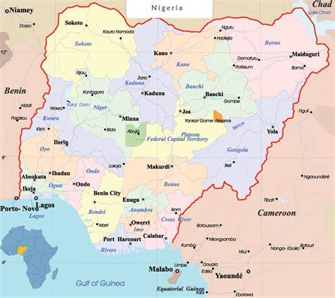 political map of nigeria ezilon maps nigeria political map mapsof net