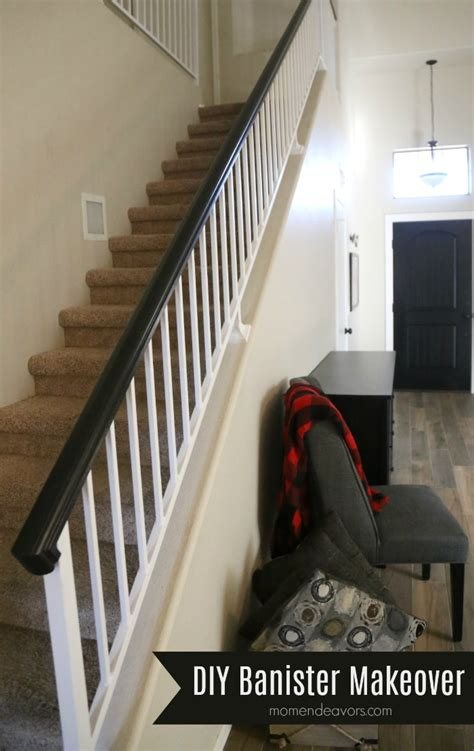 diy banister how to paint an oak banister black