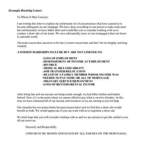 Letter Of Hardship For Loan Modification Sle Exle Of A Hardship Letter Letter Format Writing