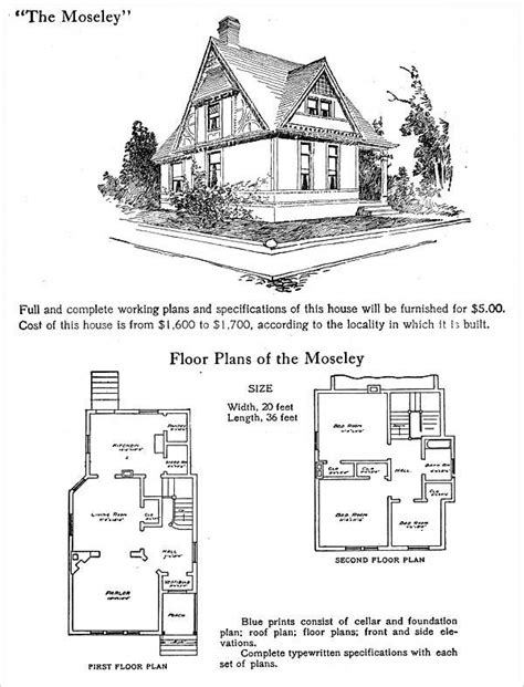 Half Timbered House Plans by Half Timbered Hodgson Plans 1905 Moseley