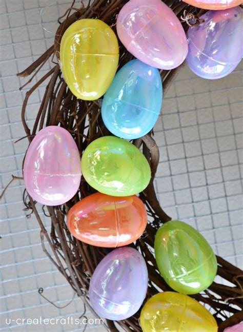 how to make an easter wreath with plastic eggs easter egg wreath tutorial u create