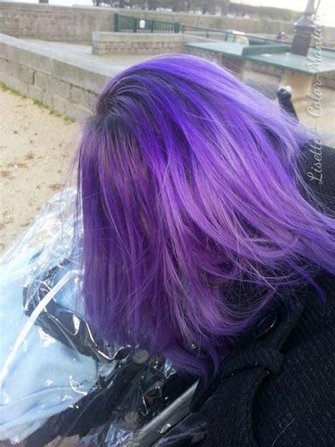 pin cheveux noir et une couleur violet rose au devant pelautscom on coloration cheveux violet directions color mania