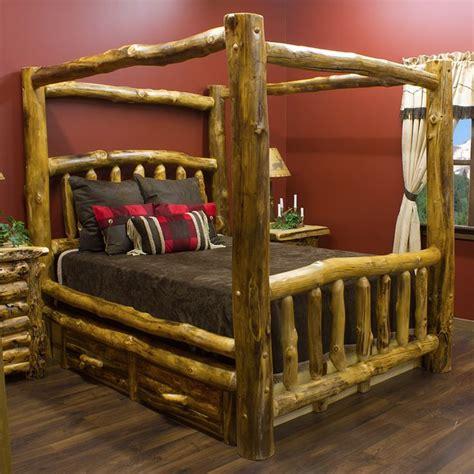 Log Frame Bed 17 Best Ideas About Log Bed On Log Bed Frame Diy Bed Frame And Farmhouse Bed