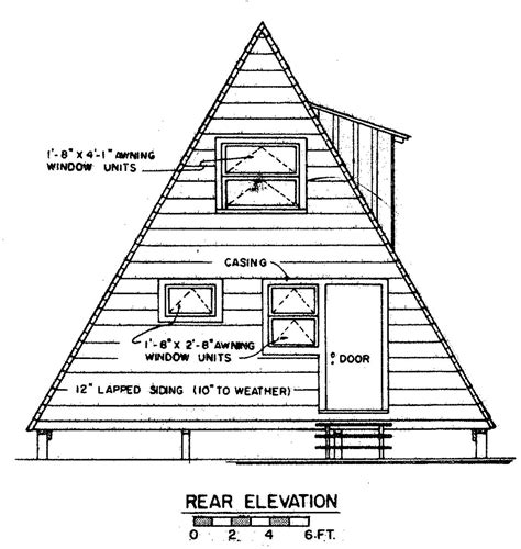 a frame cottage floor plans free a frame house plan with deck