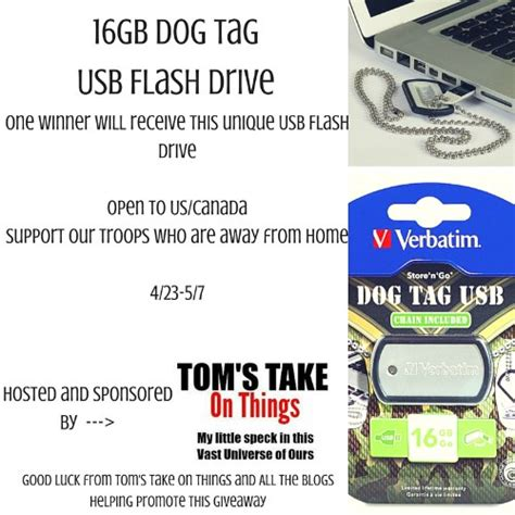 Usb Giveaways - win a 16gb dog tag usb drive momma young at home