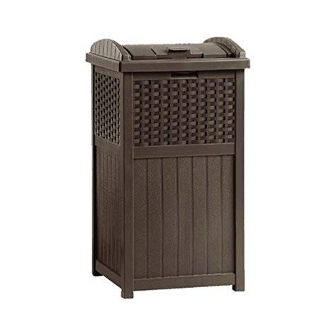 new suncast ghw1732 home outdoor patio resin wicker trash