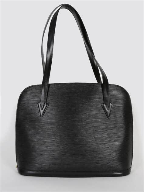 Louis Vuitton Epi Leather Collection by Louis Vuitton Lussac Epi Leather Noir Luxury Bags