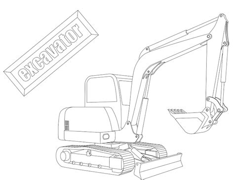 coloring pictures of excavator pin bulldozer coloring page on pinterest