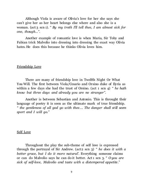 essay theme love twelfth night essay on unrequited love