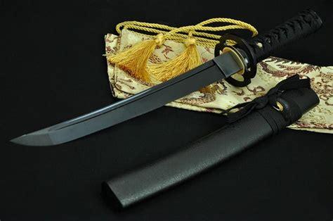 Pedang Tanto Japan Sword 20 inch made black japanese samurai tanto sword black blade musashi tsuba