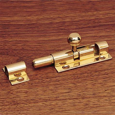 sliding security bolt solid brass   knob
