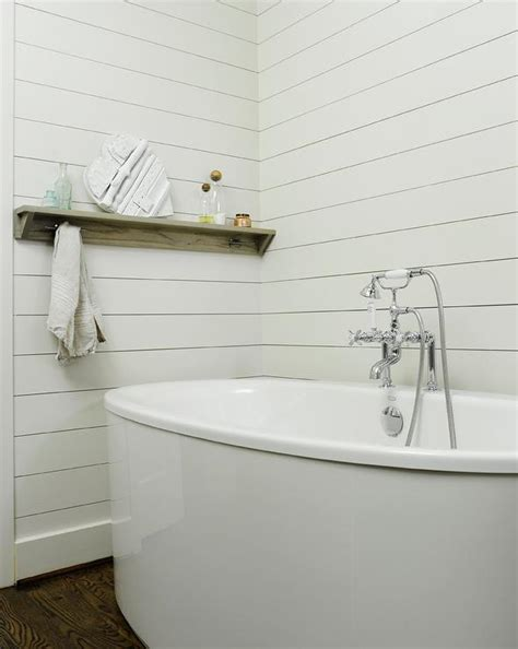 shelf over bathtub shelf over freestanding tub cottage bathroom