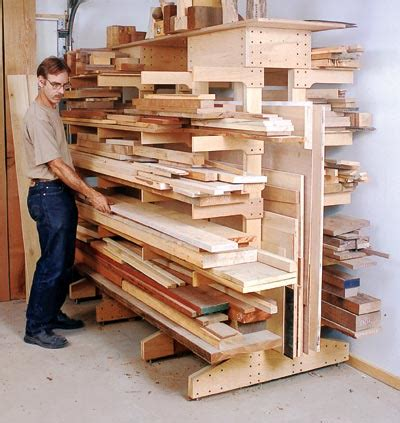 Wood Storage Rack Design by Wood Issue 162 April May 2005 Woodworking Plan From Wood