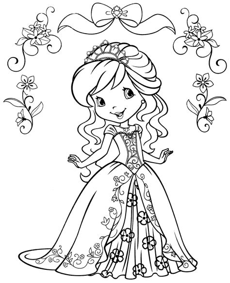 Strawberry Shortcake Coloring Pages 11030 Strawberry Shortcake Princess Coloring Pages Free Coloring Sheets