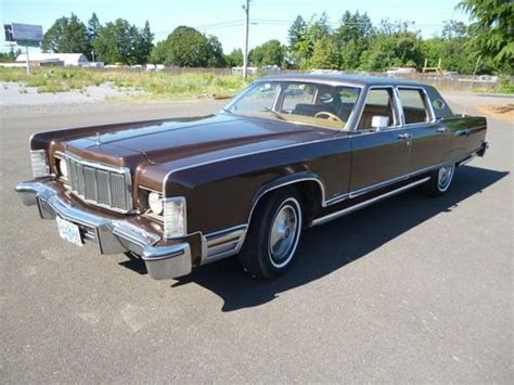 1976 lincoln town car for sale buy used 1976 lincoln continental town car in mcminnville