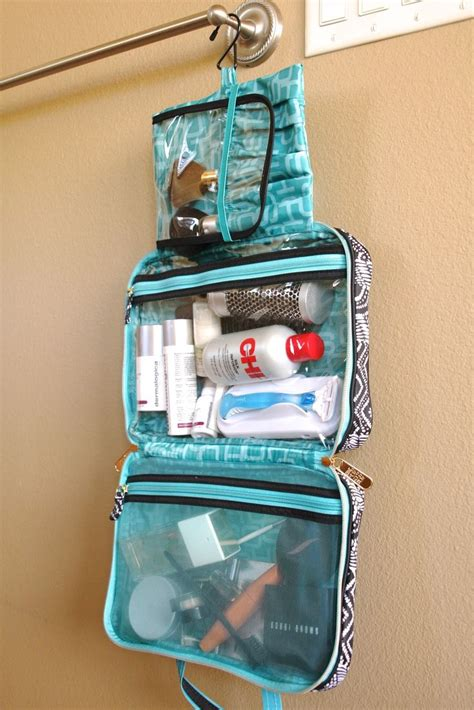 Travel Check Travel Waterproof Toiletries Bag Organizer 8cmm organized travel tip keep a toiletries bag like this packed in your suitcase at all times then