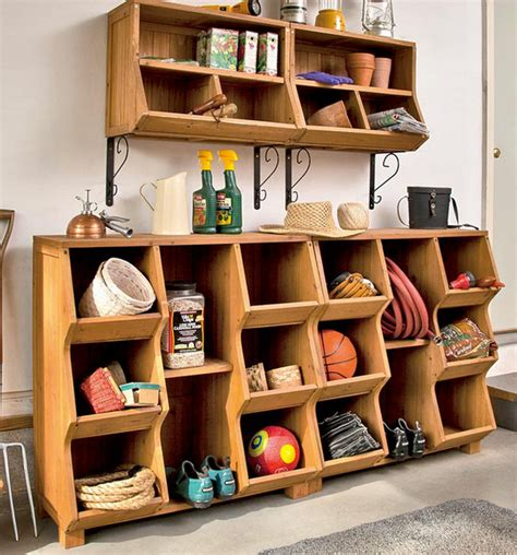 Shelf Organization by Fir Wood Storage Wall Cubby Sets With Adjustable