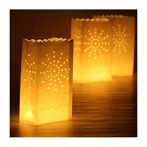 paper bag tea lights tea light paper candle lantern bags luminaries ebay