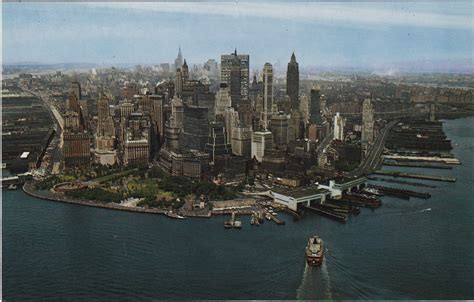 color nyc color aerial postcard views of manhattan s skyline in the