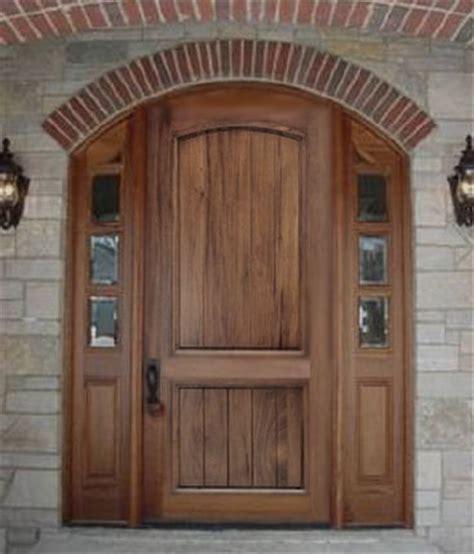 Walnut Front Doors Solid Wood Front Entry Door With Planked Panels Mahogany Walnut Cherry Oak