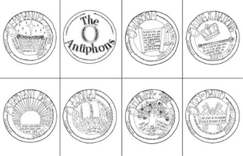 O Antiphons Coloring Pages by Look To Him And Be Radiant The O Antiphons
