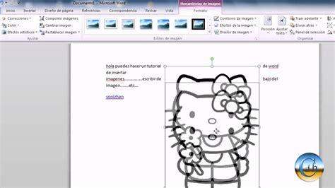 como poner imagenes que se mueven en word curso de word 2010 insertar imagen y ponerle un texto