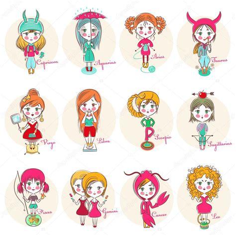 imagenes bellas de signos del zodiaco un conjunto de signos del zodiaco en forma de chicas