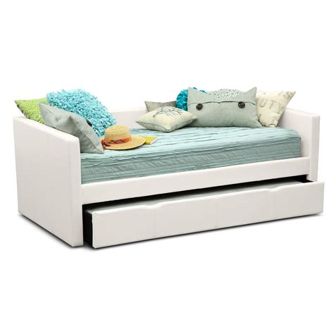 White Trundle Daybed Carey Daybed With Trundle White American Signature Furniture